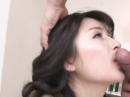 Astounding Japanese av model, Ayumi Iwasa, is in for a juicy threesome along two hunks ready to devour her cramped pussy and crack it well with their large dongs.