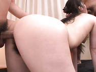 Not only is she getting fucked in the ass, she gets double penetration and has both holes creampied by these two!.