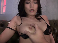 Big tits beauty gets creamed after a great fuck.