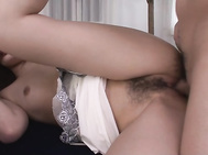 Watch her cock sucking one guy while having her tight pussy nailed by the other, providing warm and passionate Asian blowjob in the same time with having her cramped vag fully devoured.