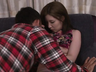 Cutie gets her hairy Asian cunt ravished in hardcore.