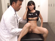 Nasty Japanese beauty with huge tits, Yu Shinohara, shows off her nasty side during a hot teaser, undulating her nude body and shaking her big tits in sensual ways while a horny stud sits and watches her.