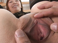 Dressing up sexy is easily going to get this housewife fucked hard like she wants, as Minami Kitagawa is showing off her body in see thru lingerie while sucking cock in POV.