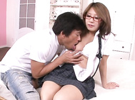 Mariru Amamiya schoolgirl in glasses fucked and creamed.