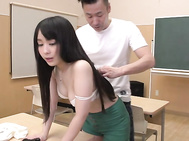Top Asian schoolgirl porn with youngRuka Kanae.