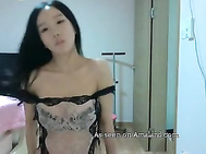 Korean girl solo in sexy lingerie. 2
