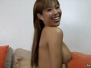 Busty Asian babe Alexx Zen gets fucked in the twat by a big black cock with Kaution Kidd.