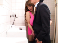 Hitomi Fucked On The Bathroom Floor.