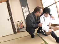 Mischievous Japanese gals Naho Hazuki and Rina Hatsume enjoy long sensuous sex plays with their mature lovers.
