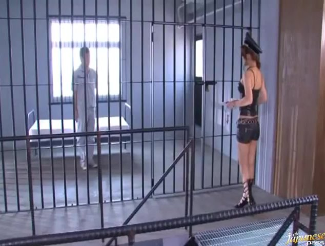 Kokomi Sakura Japanese hottie is a prison worker who sucks cock.