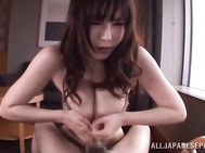Her lucky boyfriend licks her lovely juicy pussy and plays with her outstanding boobs, and then rams her hot soaking pussy and gives her intensive stand fucking and enjoys hardcore riding.
