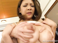 Cute Japanese milf with awesome big tits, Conomi doesn't need to do anything special in order to seduce guys of any age.
