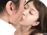Admirable Japanese beauty Arisa Misato wants some penis in her vagina.