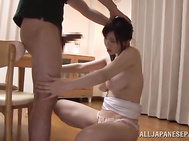 Lusty japanese Anri Okita is really naughty tonight and very eager to have her warm pussy nailed right by her new date.