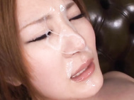 Momoka Nishina uses her massive oil covered tits to give him a very slippery tit fuck, and with all the oil over her pussy, he slips deep inside her and rear fucks her really hard, mixing his spunk and the oil on her tits when he shoots.