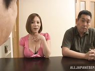 Busty Asian milf Ruri Saijoh moans from deep penetration.