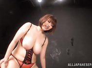 Sweet ass chick Marie Momoka Japanese big tits pleasures.