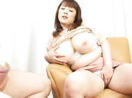Alluring Asian milf Nami Horikawa has huge knockers she likes flaunting to her horny guy.