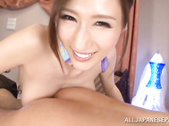 Big tits Asian milf Julia gets nasty in POV action.