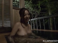 Lascivious Japanese seductress with breathtaking huge tits is a horny housewife, and she never refuses to have good sex.