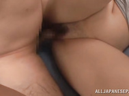 Her horny lover kisses and licks all her sappy body and eats her wet pussy.