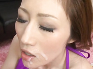 Busty Julia nailed from behind and shooting thick load of cum.
