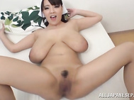 Nasty Asian housewife Hitomi is naked as she cleans her house.