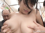 Horny Japanese milf with big natural tits enjoys having more cocks banging her in public and making her feel awesome during naughty group blowjob and doggy fucking sessions. 2