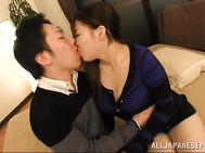 Satomi Nagase fucked and creamed with jizz on her tits.