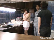 Pretty short-haired milf Mio Takahashi experiences very hard and rough treatment from a lustful horny dude.