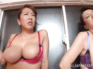 Adorable Japanese cock starved mature hotties get amazed by special attention to their awesome curves from the side of horny dude nextdoor.