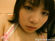 Ren Kikukawa Beautiful Japanese Model In Maids Lingerie Shows Her Big Japanese Tits And Hairy Pussy.