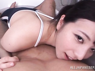 Ai Uehara enjoys tasty dick in the warm bath.