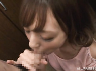 Smoking hot Asian temptress Aino Kishi likes it when she pleases her mans eager pole with her mouth.