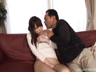 Mesmerizing Asian darling Yui Hatano- is featured in an exciting pussy pounding gang bang.