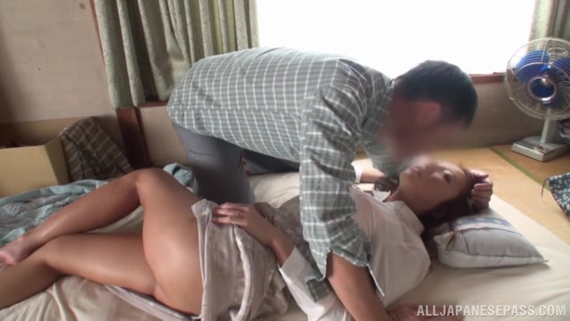 Aoi Matsushima is a napping Asian milf who gets disturbed by her boyfriend while she is resting.