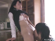 Insatiable Misaki honda losses her innocent looks and gets her wild sexual desires satisfied she strips revealing her fantastic nude forms before sucking a nervous monstrous shlong.