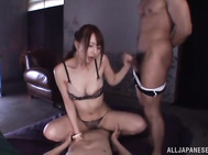 Alluring Japanese seductress in a sexy bikini Jessica Kizaki looks incredibly exciting.