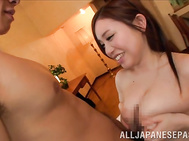 There's nothing to please this steamy Japanese babe with big boobs, Akane Mizusaki, more than having her wet pussy nailed from behind in rough doggy style scenes.