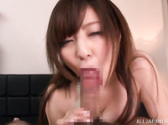 Glamorous Japanese vixen Ran Niiyama has breathtaking big juicy tits and insatiable mouth.