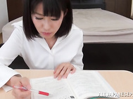 Classy Japanese teacher licks cock and rides it hard.