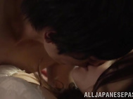 After sucking her guy's massive dick in really sloppy manners, horny Japanese amateur Reuna Sasaki, with superb nude form, starts riding and cracking her tight pussy in porn scenes.