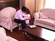 Cute Japanese milf Akiho Yoshizawa in handcuffs enjoys teasing.