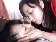 Delicious lesbian pussy delighting session.
