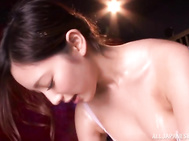 The guy oils her body from head to foot and gets his throbbing cock properly licked and sucked, and then enjoys her riding his dick!.
