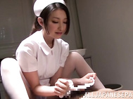 When it comes to wild sex and stunning lechery, then seductive and adorable Japanese nurse Azumi Mizushima is always ready to get naughty at any time! So watch our hot horny MILF in sexy pantyhose giving a hot footjob, massaging cock with her stockinged f