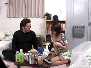 Horny sale agent visits his pretty female customer at her home.