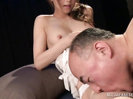 This lusty Japanese milf, Akiho Yoshizawa, is a true goddess in sex as she loves banging her tight holes in pure hardcore scene that are full of passion and lust.