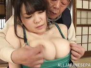 Curvaceous Japanese milf Sena Minami behaves so naughty and curves in front of the guy next door, showing off her sexy body and flirting with him.