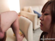 Cute Asian doll Yukino Kawai all over the place as she wants her gaping hole nailed, she is prepared to do anything crazy including sucking balls and riding cock like a pony, she is repaid as she gets hot jizz in her mouth from the hot blowjob she gives!.